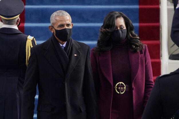 Barack Obama s manželkou.