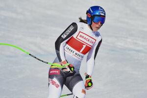 Petra Vlhová nedokončila super-G v Crans Montane.