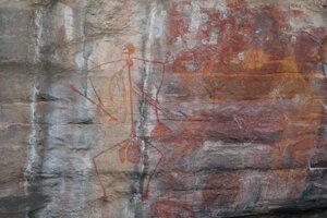 Aboriginske maľby v národnom parku Kakadu.