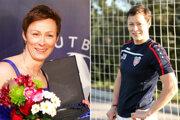 Monika Matysová bola pravidelne členkou Jedenástky roka SFZ. Vpravo pózuje v drese rakúskeho St. Pöltenu.