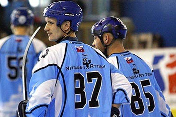 Veľkú zásluhu na výhre Rytierov maal dvojica extraligových hokejistov - Michal Chovan a Marek Slovák.