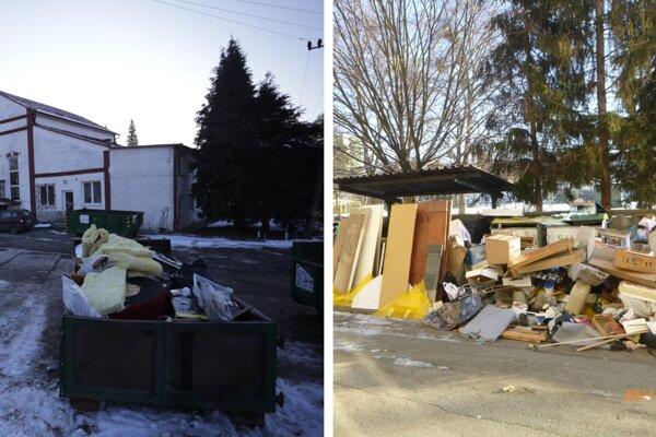 Zberný dvor na Bajkalskej ulici a skládka odpadu na Sabinovskej ulici.