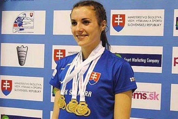 Trikrát zlatá Natália Ostrožlíková.