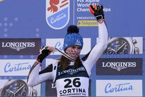 Petra Vlhová získala striebro v alpskej kombinácii na MS v zjazdovom lyžovaní 2021.