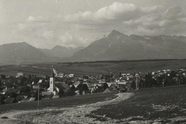 Vo Východnej namerali 10. februára -39,2 stupňa Celzia. Na fotografii obec v roku 1900.
