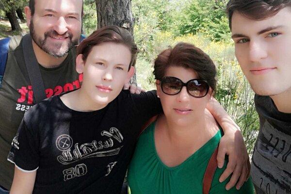 Marcela s rodinou.