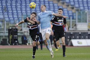 Zápas Lazio - Sampdoria.