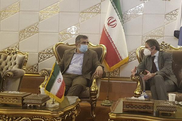 Generálneho riaditeľa MAAE po prílete do Teheránu privítal zástupca šéfa Iránskej organizácie pre atómovú energiu (AEOI) Behrúz Kamálvandí.