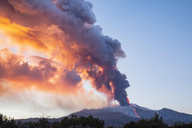 Výbuch Etny 16 februára.
