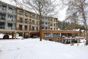 Hotel Hrabovo v zatvorenom lyžiarskom stredisku Malinô Brdo pri Ružomberku.