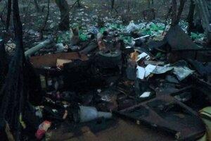 Zhorená chata na Jantárovej ulici