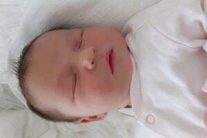 Michaela Staňáková (3650 g, 50 cm) sa narodila 12. februára Jane a Danielovi z Melčíc-Lieskového.