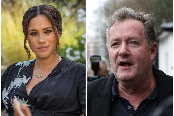 Meghan Markleová (vľavo), Piers Morgan (vpravo)
