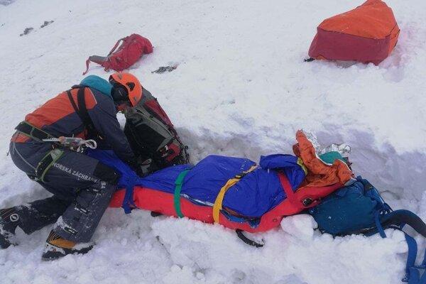 Zásah Horskej záchrannej služby v Mlynickej doline.