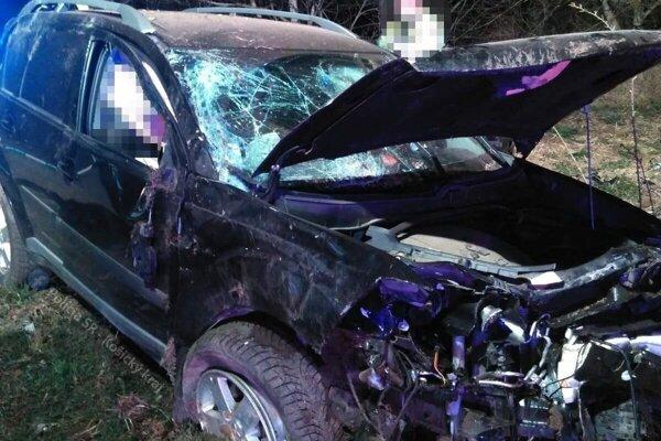 Mitsubishi po nehode.