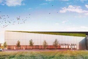 Pôvodná vizualizácie projektu MakFootball Arena.