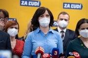 Predsedníčka strany Za ľudí Veronika Remišová.