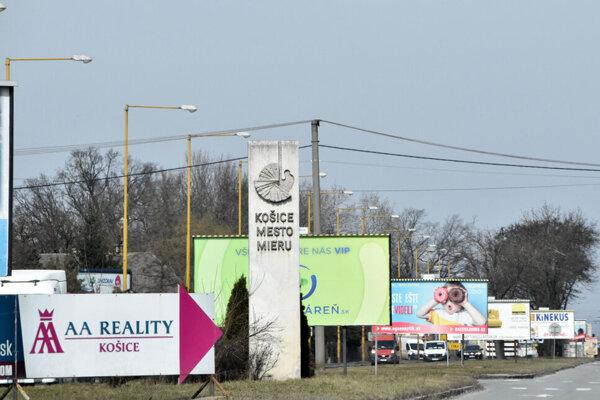 Košice - mesto reklám a bilbordov.