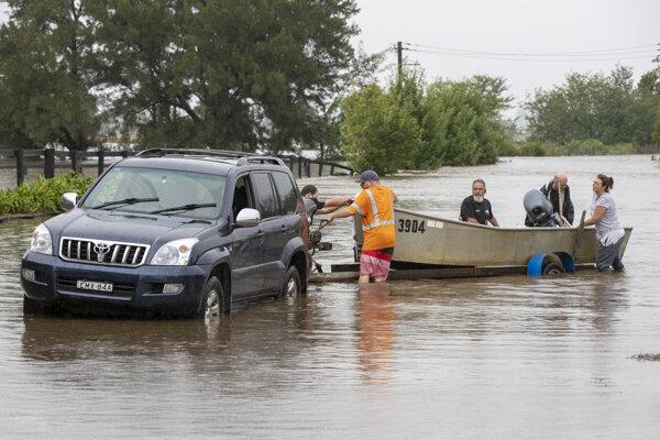 Záplavy na východe Austrálie.
