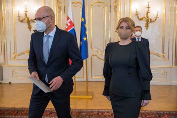 Prezidentka Čaputová prijala demisiu ministra hospodárstva Sulíka.