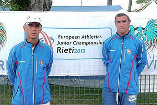 Peter Mečiar (vľavo) a jeho zverenec Lukáš Privalinec.
