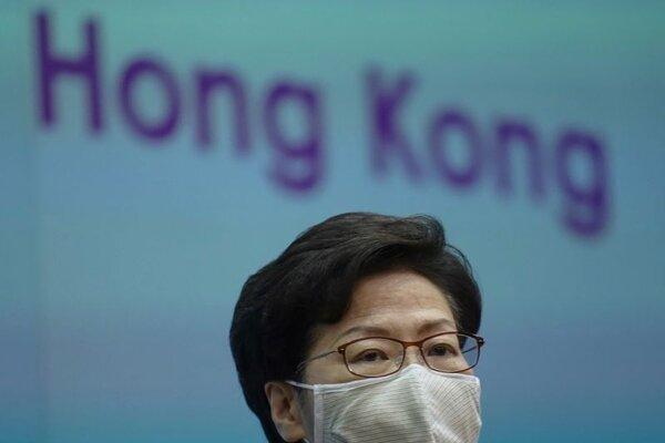 Šéfka hongkonskej exekutívy Carrie Lamová.