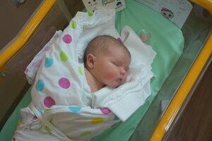 Mia Adamaťová (4170 g, 53 cm) sa narodila 12. marca Andrei a Pavlovi z Dubnice nad Váhom.