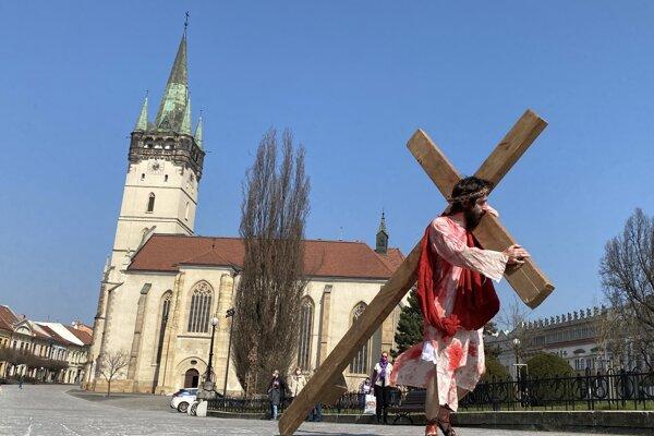 Postavu Ježiša stvárnil 30-ročný Ján Jendrichovský z Novej Ľubovne.