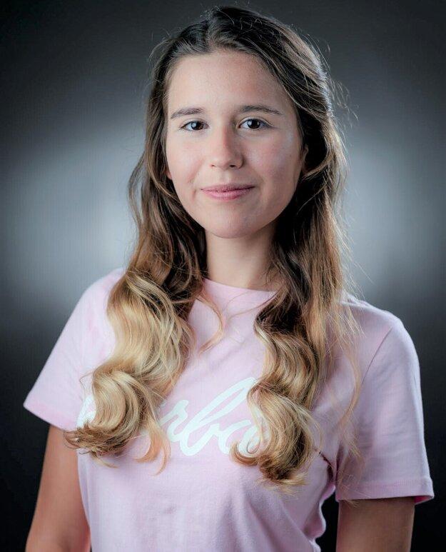 Alžbeta Zacharidesová, študentka Gymnázia J. Lettricha v Martine.