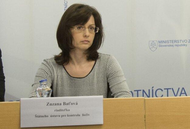 Riaditeľka Štátneho ústavu pre kontrolu liečiv Zuzana Baťová.