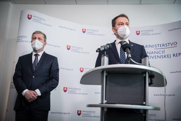 Minister financií Igor Matovič a minister zdravotníctva Vladimír Lengvarský.