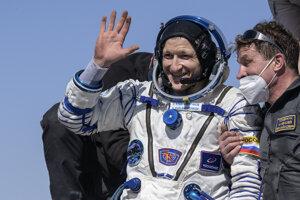 Sergej Kuď-Sverčkov po návrate na Zem.