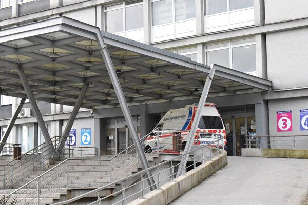 Urgentný príjem košickej nemocnice.