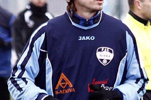Henrich Benčík hral v sobotu za Nitru proti Sencu 35 minút na hrote útoku.