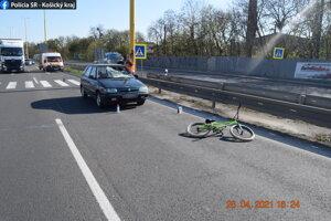 Nehoda v Košiciach.