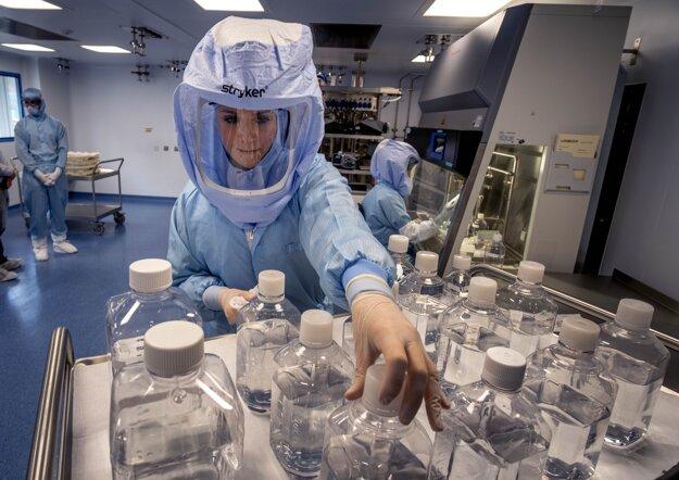 Závod BioNTech na výrobu vakcín proti ochoreniu Covid-19 v nemeckom Marburgu.