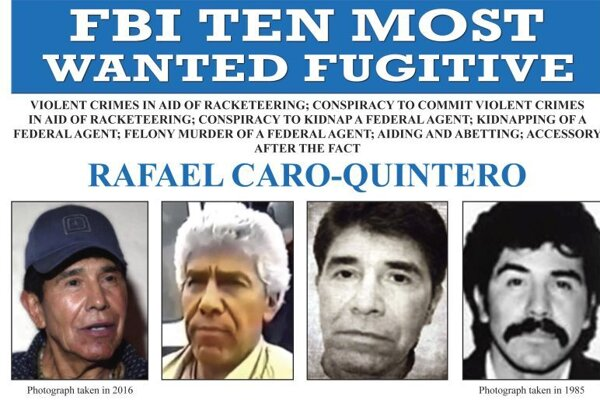 Rafael Caro-Quintero na ozname od FBI.