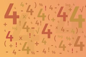 Cieľom hry Štyri štvorky (z ang. Four fours) je vytvoriť čo najviac kladných celých čísel použitím iba štyroch štvoriek v kombinácii s matematickými operáciami.