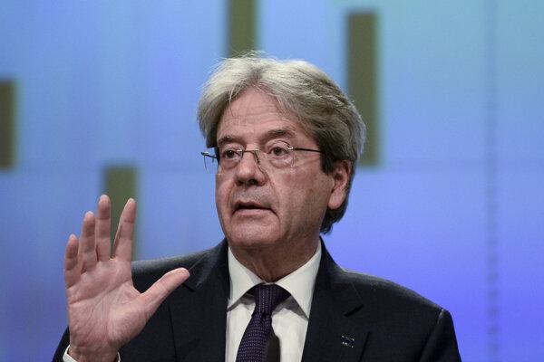 Eurokomisár zodpovedný za hospodárstvo Paolo Gentiloni.