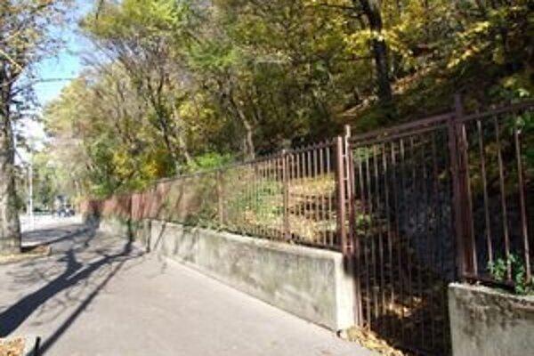 Bránky, ktoré vedú na zalesnený hradný svah, sú už roky zamknuté.