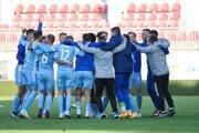 Futbalisti ŠK Slovan Bratislava sa radujú po zisku majstrovského titulu vo Fortuna lige.