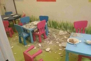 Omietka spadla počas obeda.