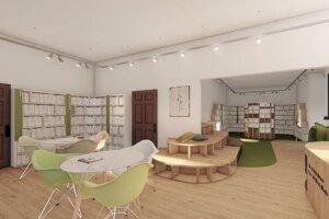 Plánovaný dizajn oddelenia pre deti a mládež.