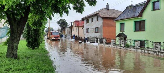 Záplavy v Nižnej Hutke.