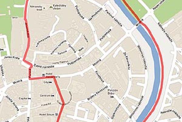 Trasa povedie aj cez atraktívne miesta v centre.