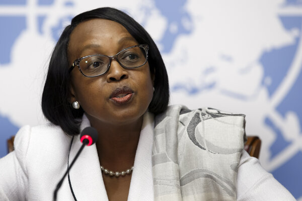 Riaditeľka Svetovej zdravotníckej organizácie WHO pre africký región Matshidiso Moetiová.