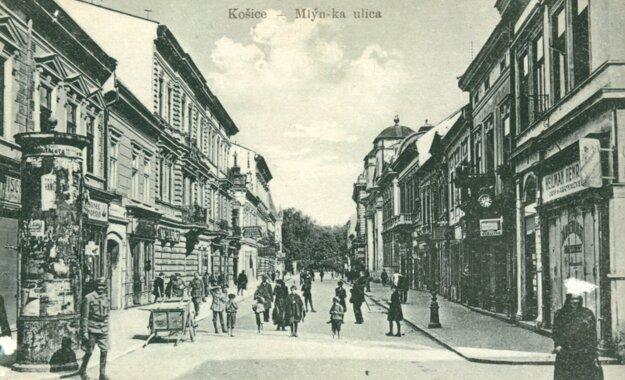 Takto kedysi vyzerala Mlynská ulica.