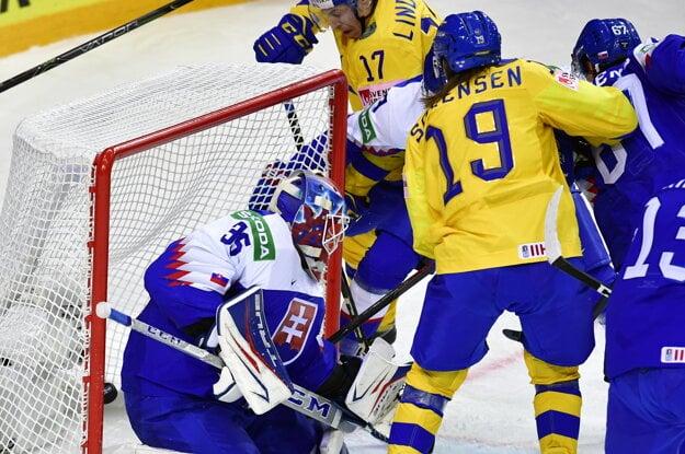 Vyrovnávajúci gól v zápase Slovensko - Švédsko na MS v hokeji 2021.