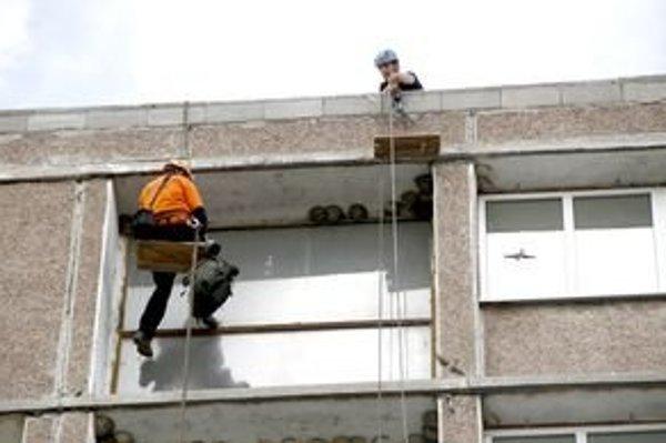 Päť mláďat belorítok presťahovali horolezci do časti internátu, kde sa budú robiť stavebné práce až na záver.