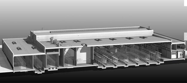 Vizualizácia, ako by mali vyzerať zmodernizované garáže DPMK.